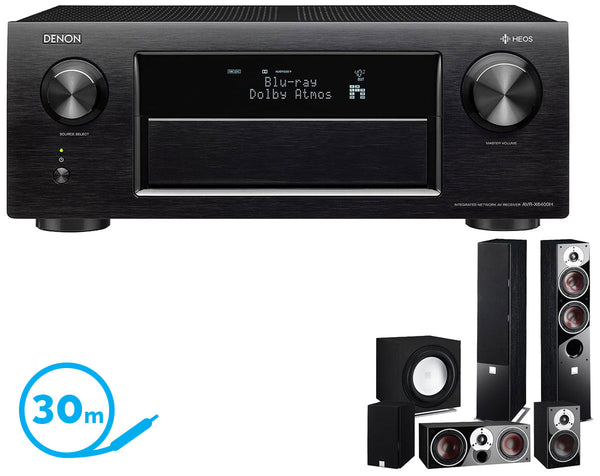 DENON AVR-X6400H AV Receiver & Zensor 5 - 5.1 Speaker Package