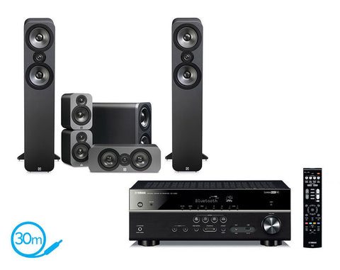 Yamaha RX-V483 AV Receiver & Q Acoustics Q3050 - 5.1 Speaker Package