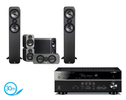 Yamaha RX-V583 AV Receiver & Q Acoustics Q3050 - 5.1 Speaker Package