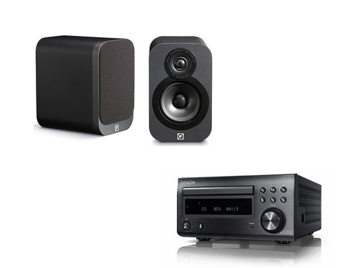 DENON D-M41 DAB & Q Acoustics 3010 Speakers