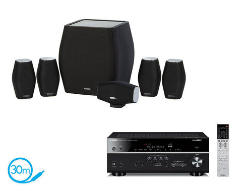 Yamaha RX-V683 AV Receiver & Monitor Audio MASS - 5.1 Speaker Package