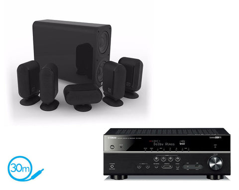 Yamaha RX-V583 AV Receiver & Q Acoustics Q7000i Plus - 5.1 Speaker Package