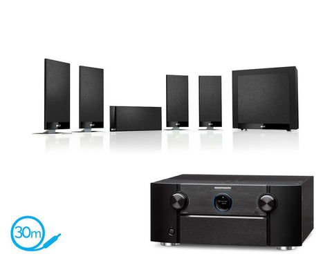 Marantz SR7011 AV Receiver & KEF T105 - 5.1 Speaker Package