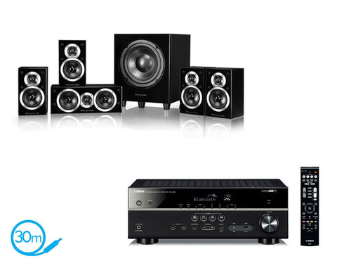 Yamaha RX-V483 AV Receiver & Wharfedale DX1-SE - 5.1 Speaker Package