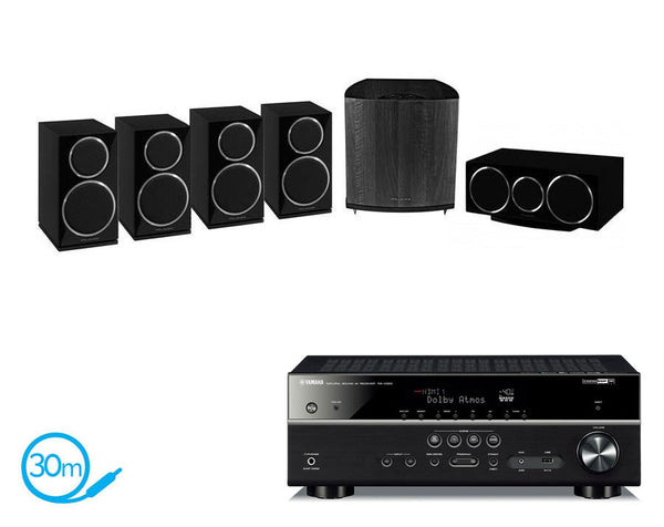 Yamaha RX-V583 AV Receiver & Wharfedale Diamond 220 HCP - 5.1 Speaker Package