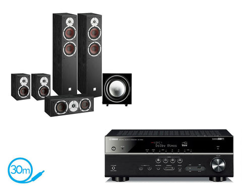 Yamaha RX-V583 AV Receiver & Dali Spektor 6 - 5.1 Speaker Package