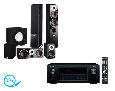 DENON AVR-X2400H AV Receiver With HEOS & Dali Zensor 5 - 5.1 Speaker Package