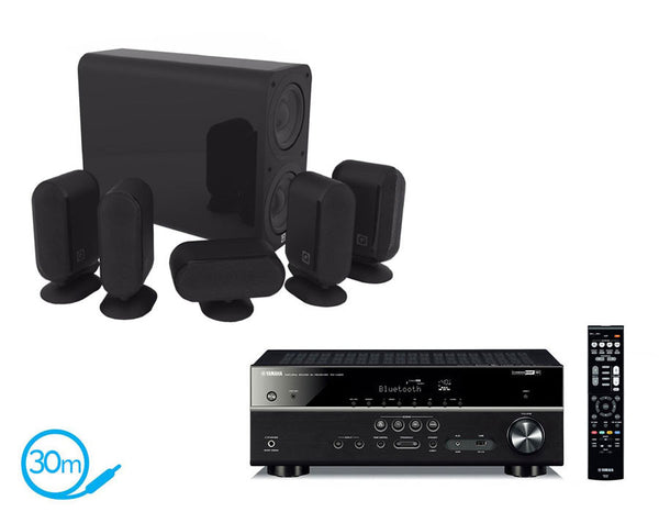 Yamaha RX-V483 AV Receiver & Q Acoustics Q7000i Plus - 5.1 Speaker Package