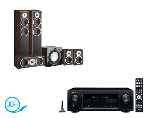 DENON AVR-X1400H AV Receiver & Dali Spektor 6 - 5.1 Speaker Package