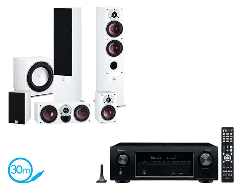 DENON AVR-X1400H AV Receiver & Dali Zensor 5 - 5.1 Speaker Package