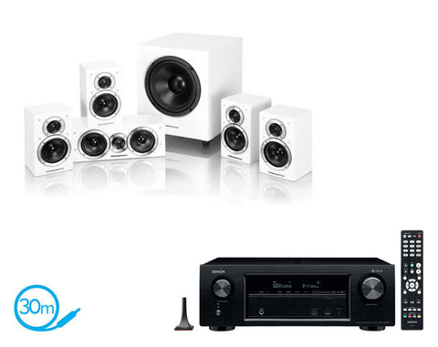 DENON AVR-X1400H AV Receiver & Wharfedale DX1-SE - 5.1 Speaker Package