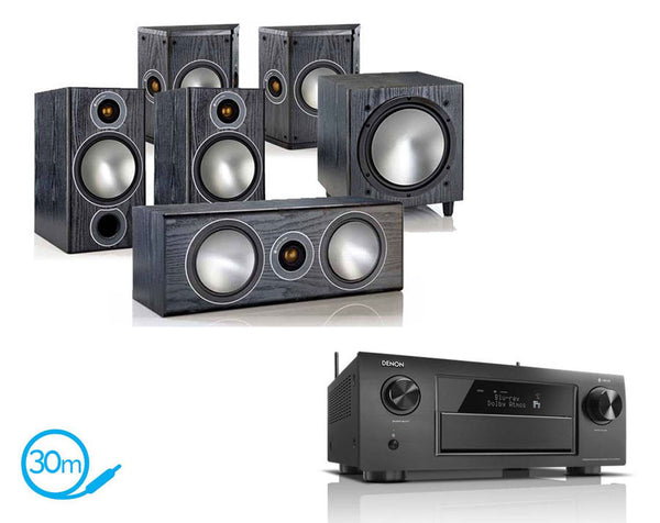 DENON AVR-X6300H AV Receiver & Monitor Audio Bronze 2 - 5.1 Speaker Package