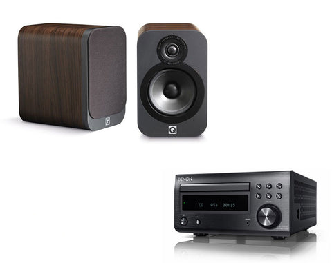 DENON D-M41 DAB & Q Acoustics 3020 Speakers