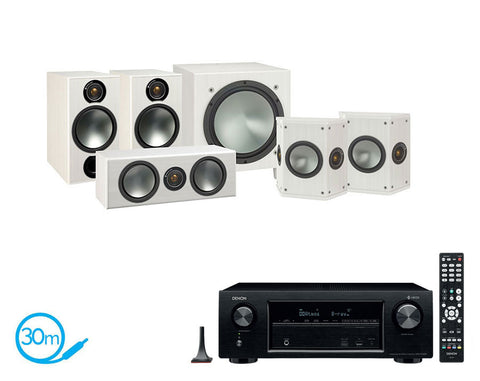 DENON AVR-X1400H AV Receiver & Monitor Audio Bronze 2 - 5.1 Speaker Package