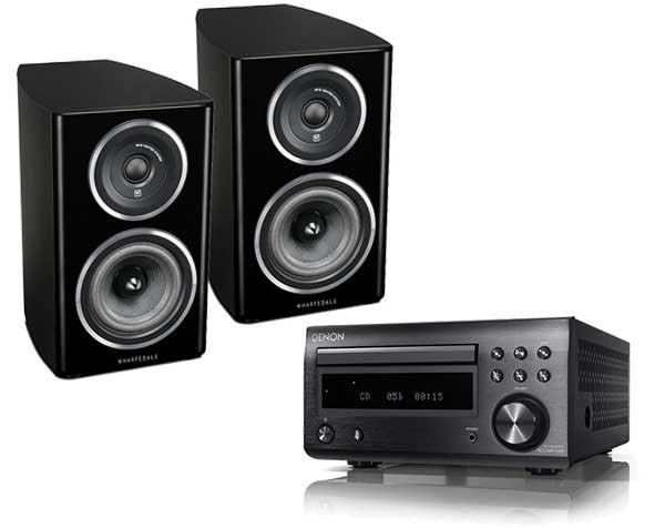 Hi-Fi Packages - DENON D-M41 DAB Micro System With Wharfedale Diamond 11.1