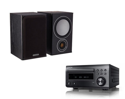 DENON D-M41 DAB & Monitor Audio Bronze 1 Speakers
