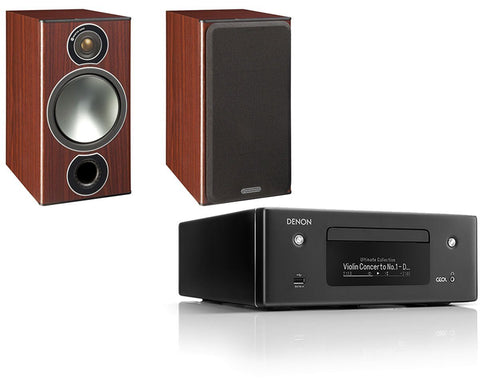 Denon RCD-N10  Network HiFi System & Monitor Audio Bronze 2 Speakers