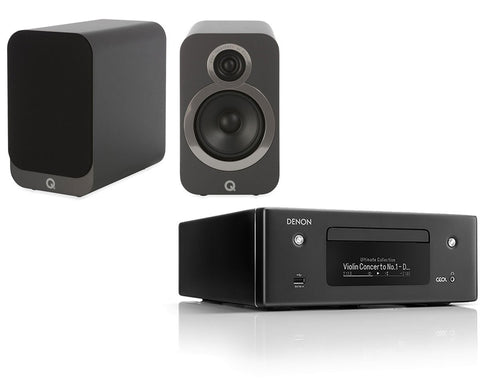 Denon RCD-N10  Network HiFi System & Q Acoustics 3020i Speakers