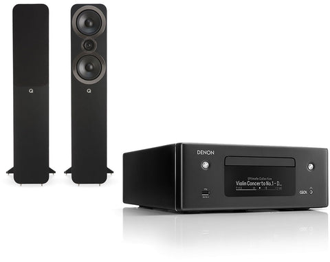 Denon RCD-N10 Network HiFi System & Q Acoustics 3050i Speakers