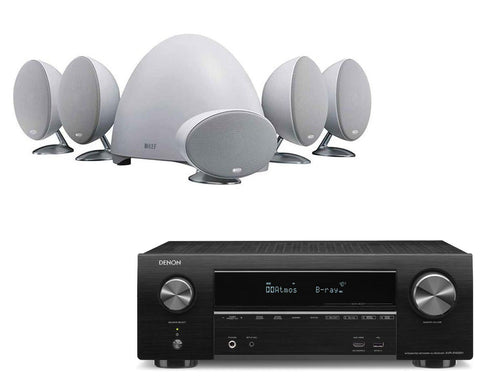 Denon AVR-X1500H AV Receiver & KEF E305 - 5.1 Speaker Package