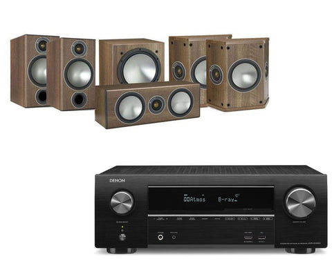Denon AVR-X1500H AV Receiver & Monitor Audio Bronze 2 - 5.1 Speaker Package