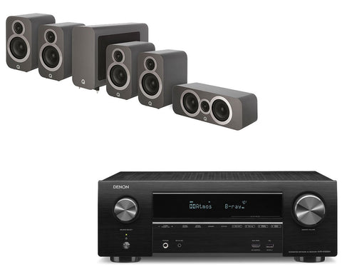 Denon AVR-X1500H AV Receiver & Q Acoustics Q3010i - 5.1 Speaker Package