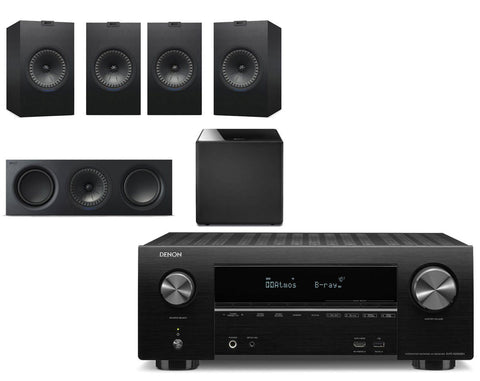 Denon AVR-X2500H AV Receiver & KEF Q350 - 5.1 Speaker Package