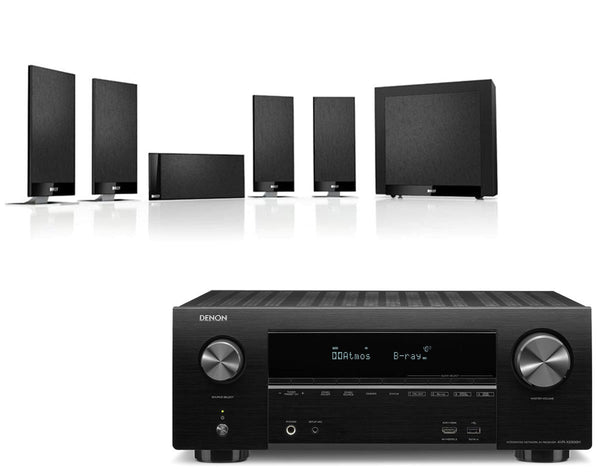 Home Cinema - Denon AVR-X2500H AV Receiver & KEF T105 - 5.1 Speaker Package