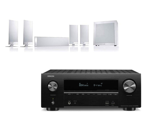 Denon AVR-X2500H AV Receiver & KEF T105 - 5.1 Speaker Package