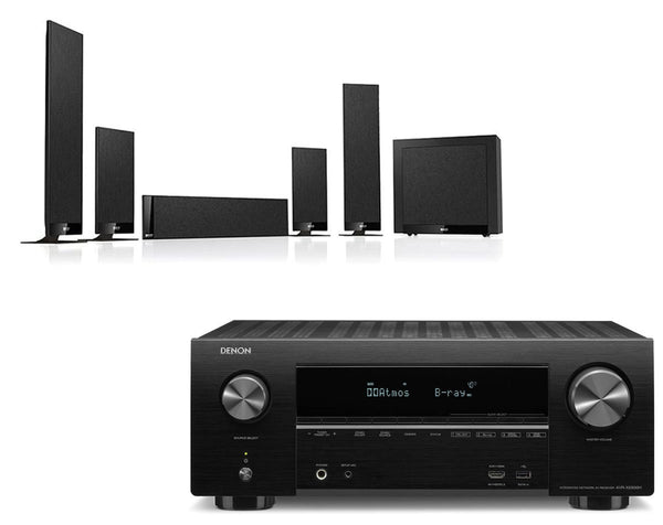Home Cinema - Denon AVR-X2500H AV Receiver & KEF T205 - 5.1 Speaker Package