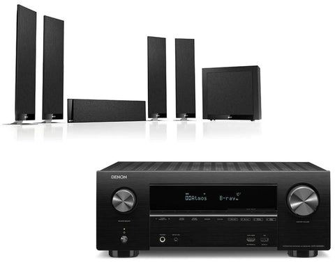 Denon AVR-X2500H AV Receiver & KEF T305 - 5.1 Speaker Package