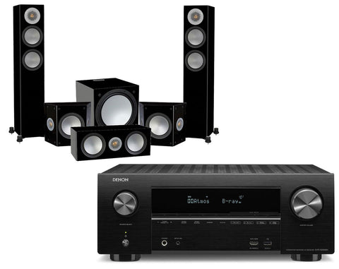 Denon AVR-X2500H AV Receiver & Monitor Audio Silver 200-AV12 - 5.1 Speaker Package