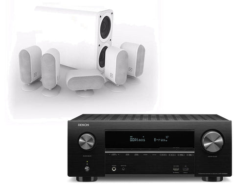 Denon AVR-X2500H AV Receiver & Q Acoustics Q7000 Plus - 5.1 Speaker Package