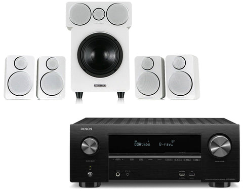 Denon AVR-X2500H AV Receiver & Wharfedale DX-2 - 5.1 Speaker Package