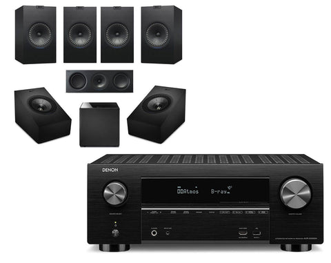 Denon AVR-X3500H AV Receiver & KEF Q350 - 5.1.2 Speaker Package
