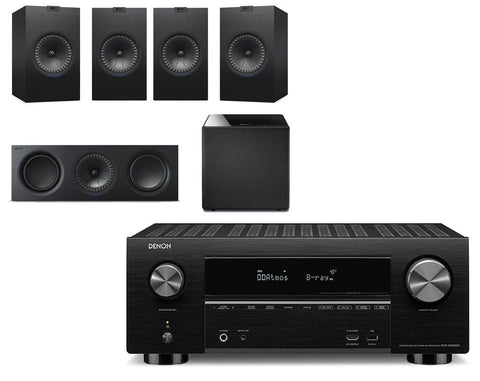 Denon AVR-X3500H AV Receiver & KEF Q350 - 5.1 Speaker Package