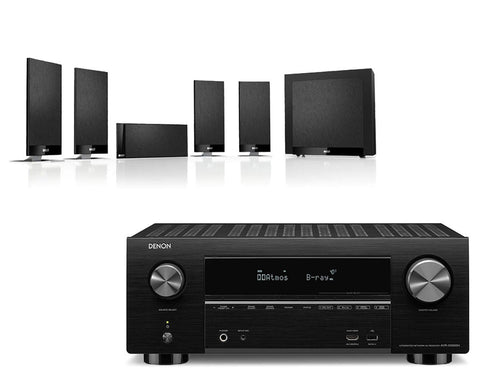 Denon AVR-X3500H AV Receiver & KEF T105 - 5.1 Speaker Package
