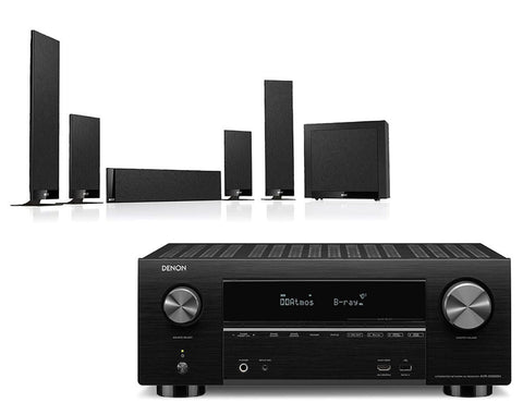 Denon AVR-X3500H AV Receiver & KEF T205 - 5.1 Speaker Package
