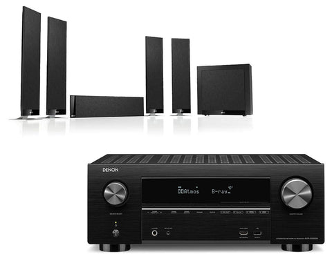 Denon AVR-X3500H AV Receiver & KEF T305 - 5.1 Speaker Package