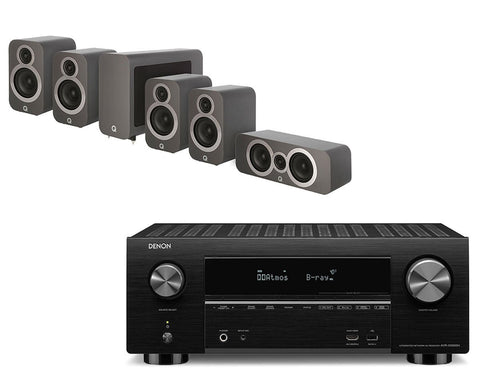 Denon AVR-X3500H AV Receiver & Q Acoustics Q3010i - 5.1 Speaker Package