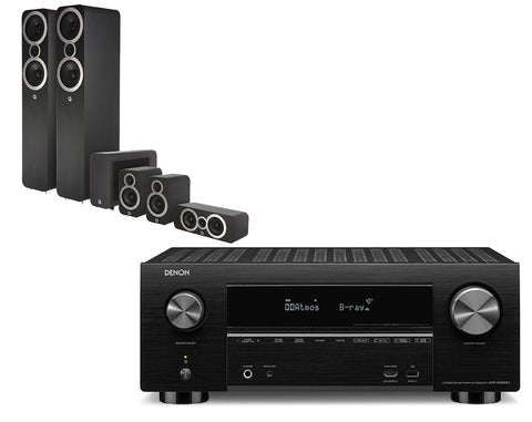 Denon AVR-X3500H AV Receiver & Q Acoustics Q3050i - 5.1 Speaker Package