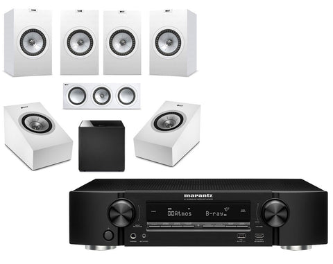 Marantz NR1609 Ultra-Slim AV Receiver & KEF Q350 - 5.1.2 Speaker Package