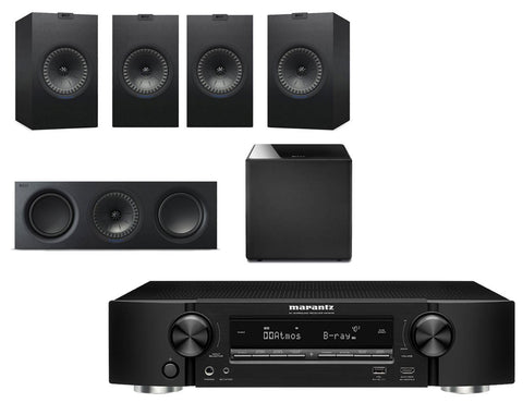 Marantz NR1609 Ultra-Slim AV Receiver & KEF Q350 - 5.1 Speaker Package