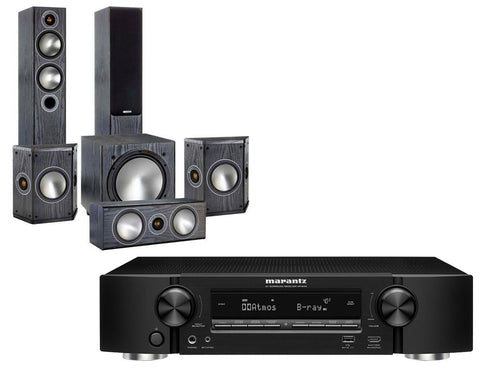 Marantz NR1609 Ultra-Slim AV Receiver & Monitor Audio Bronze 5 - 5.1 Speaker Package