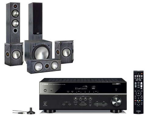 Yamaha RX-V485 AV Receiver & Monitor Audio Bronze 5 - 5.1 Speaker Package
