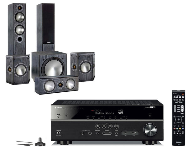 Home Cinema - Yamaha RX-V585 AV Receiver & Monitor Audio Bronze 5 - 5.1 Speaker Package