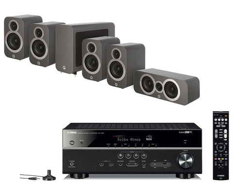 Yamaha RX-V585 AV Receiver & Q Acoustics Q3010i - 5.1 Speaker Package