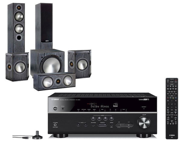 Home Cinema - Yamaha RX-V685 AV Receiver & Monitor Audio Bronze 5 - 5.1 Speaker Package