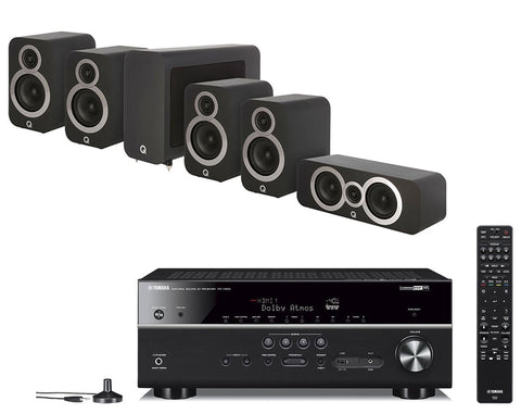 Yamaha RX-V685 AV Receiver & Q Acoustics Q3010i - 5.1 Speaker Package
