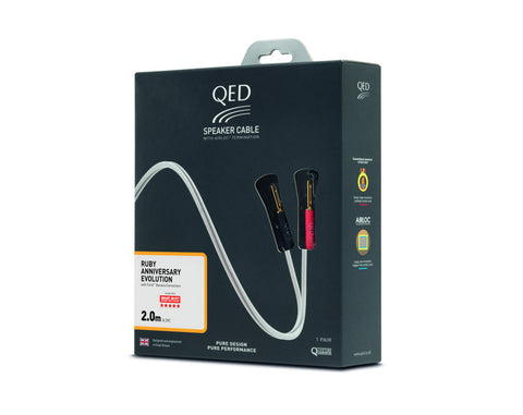 QED Ruby Anniversary Evo Speaker Cable - Terminated